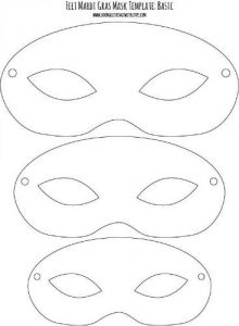 Mardi Gras Mask Template Printable Free