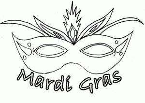 Mardi Gras Mask Template for Kids