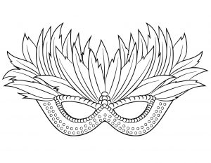 Mardi Gras Mask Templates for Adults