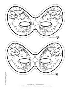 Mardi Gras Mask Templates to Print