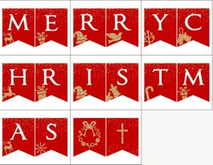 Merry Christmas Banner Letters Printable