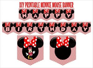 Minnie Mouse Happy Birthday Banner Printable