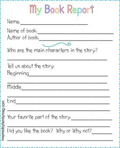 My Book Report Template