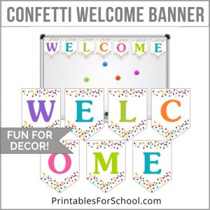 Printable Welcome Banner Template