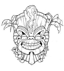 Tiki Mask Template Picture