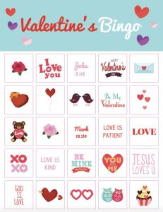 Valentine's Day Bingo for Adults