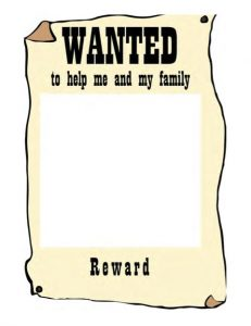 Wanted Reward Poster Template Free