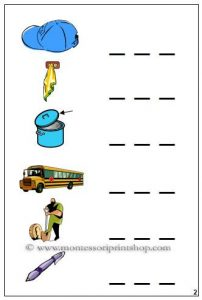 3 Letter Words Fill in the Blank Worksheets