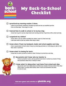 Back to School Checklist Images