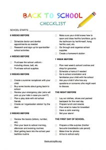 Back to School Clothes Checklist for Parents