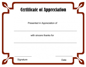 Blank Certificates to Print