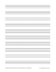 Blank Lined Paper Printable