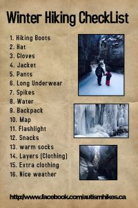 Cold Weather Hiking Checklist