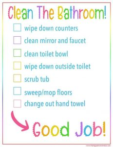 Daily Bedroom Cleaning Checklist