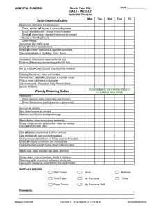 Dental Office Cleaning Checklist