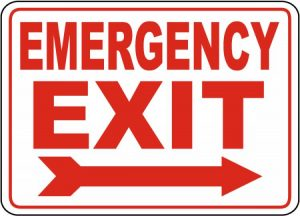 Emergency Exit Only Sign Printable