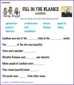 Fill in the Blanks Words for Kids