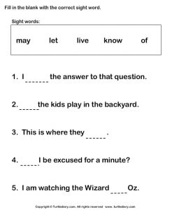 Fill in the Blanks with Words from the Box