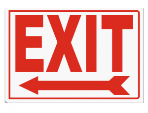 Free Printable Exit Only Signs