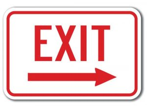 Free Printable Exit Sign Template