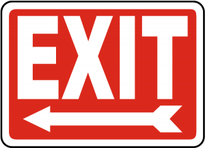 Free Printable Exit Sign with Arrow