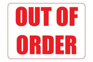 Free Printable Out of Order Sign