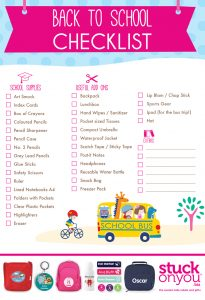Going Back to School Checklist
