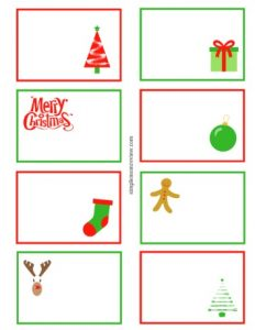 Holiday Note Card Templates