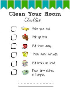 Kids Bedroom Cleaning Checklist