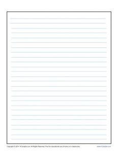Lined Paper Template for Kids