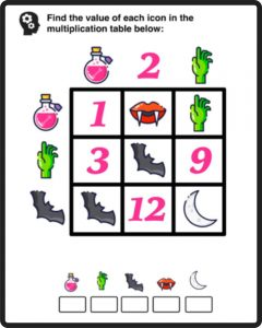 Math Picture Puzzle Worksheets