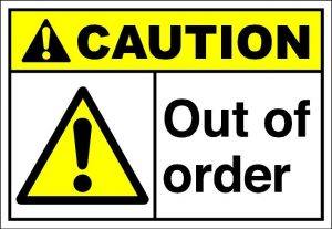 Out of Order Sign Printable Image