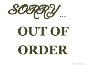 Out of Order Sign Printable Picture