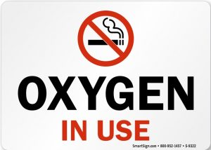 Oxygen in Use No Smoking Sign Printable