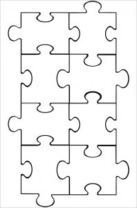 Printable Blank Puzzle Pieces Template