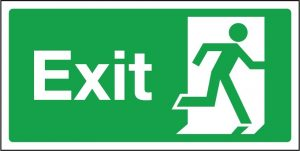 Printable Exit Sign Template