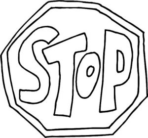 Printable Image of Stop Sign