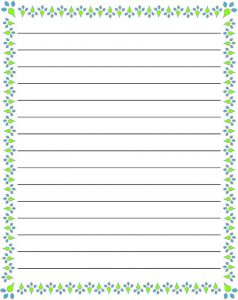 Printable Lined Paper with Border