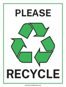 Printable Recycling Bin Signs