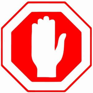 Printable Stop Sign with Hand