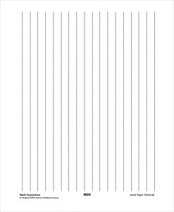 Printable Vertical Lined Paper