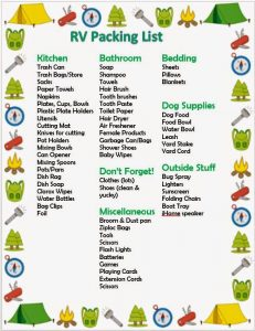 RV Camping Packing Checklist