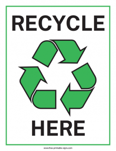 Recycle Bin Sign Printable