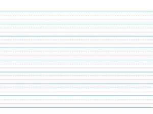 Red and Blue Lined Handwriting Paper Printable