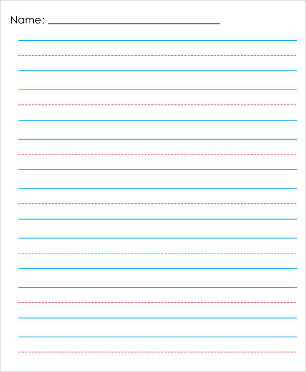 Red and Blue Lined Paper Printable