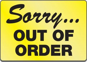 Sorry Out of Order Sign Printable