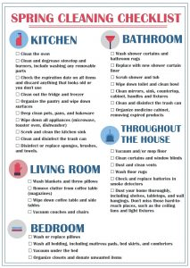 Spring Cleaning Apartment Checklist