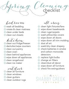 Spring Cleaning Checklist Free
