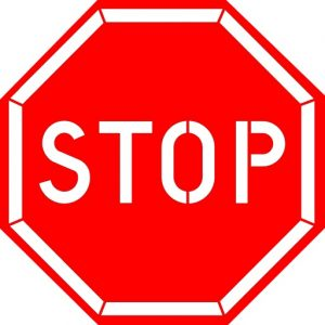 Stop Sign Printable Template