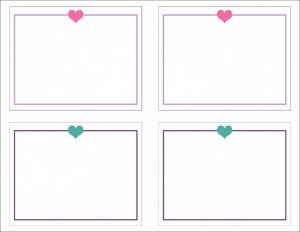 Valentine's Day Note Card Template